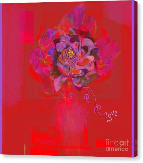 Hummingbirds Red Fantasy Canvas Print