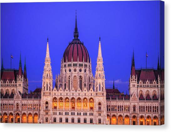 Hungarian Parliament Canvas Print by Andrew Soundarajan
