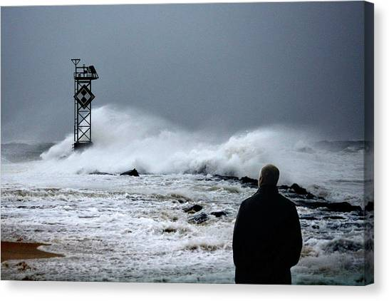 Canvas Print featuring the photograph Hurricane Watch by Bill Swartwout Fine Art Photography