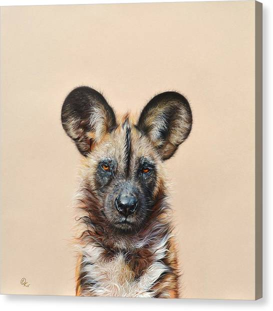 I Am A Wild Thing - African Painted Dog Canvas Print