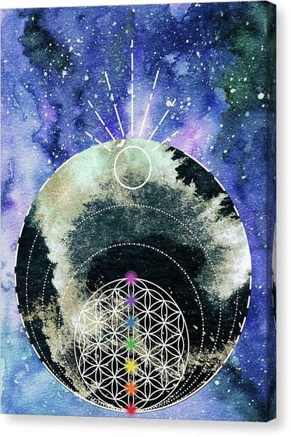 Canvas Print featuring the digital art I Am by Bee-Bee Deigner