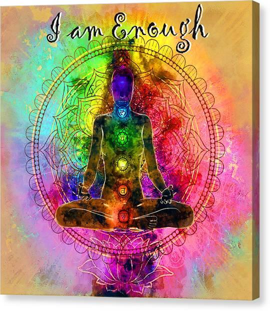 I Am Enough Kundalini Canvas Print