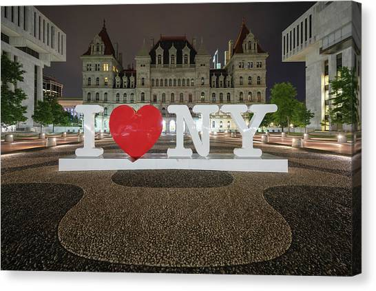 I Love Ny Canvas Print