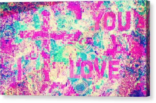 I Love You Jesus Canvas Print