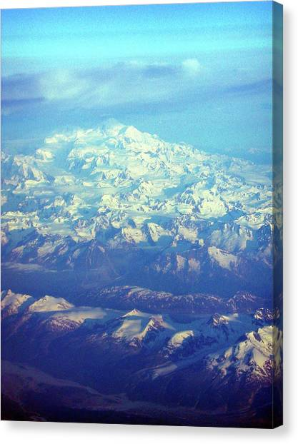 Ice Covered Mountain Top Canvas Print