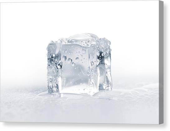 Ice Cubes Canvas Print by Sbayram