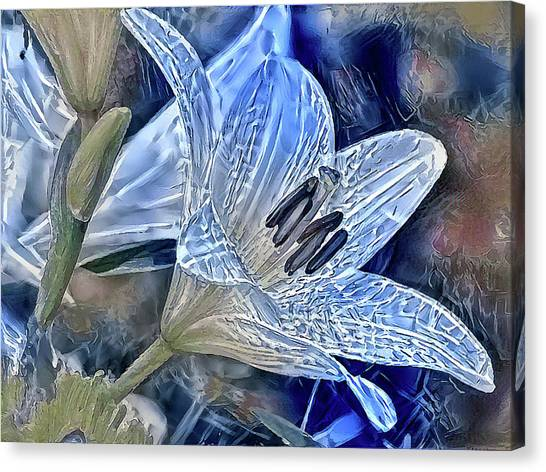 Ice Lily Canvas Print