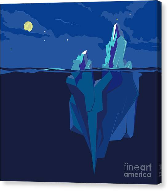 Change Canvas Print - Iceberg Underwater And Above Water At by Tatyanatvk