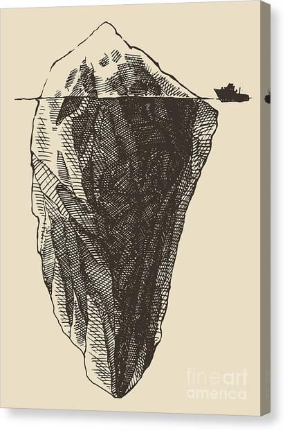 Change Canvas Print - Iceberg With Icebreaker Vintage by Grop