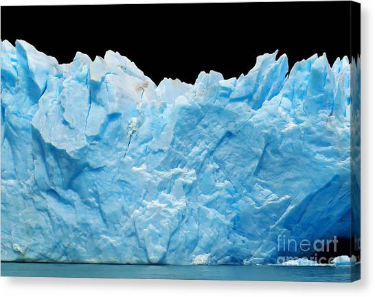 Change Canvas Print - Icebergs Isolated On Black by Canadastock