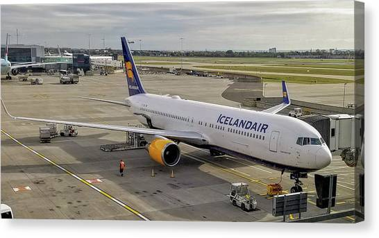 Icelandair Boeing 767-319 At London Heathrow Airport Canvas Print
