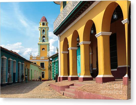 Church Canvas Print - Iconic And Beautiful Tower In Trinidad by Sabino Parente