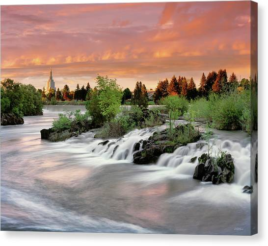 Idaho Canvas Print - Idaho Falls by Leland D Howard