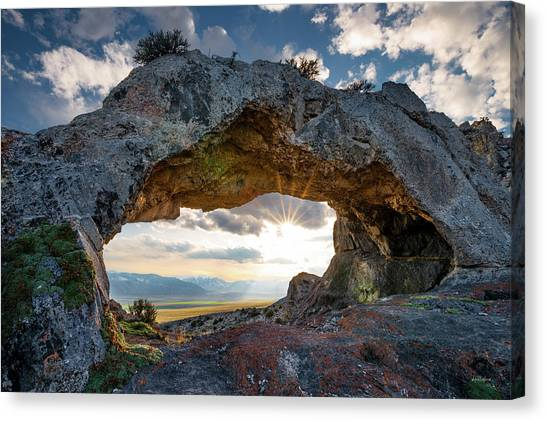 Canvas Print featuring the photograph Idaho Natural Arch by Leland D Howard