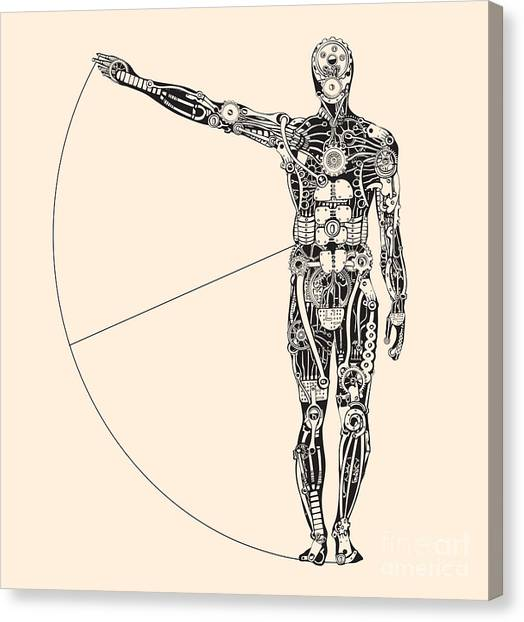 Sheet Canvas Print - Ideal Human Proportion That Governs The by Ryger
