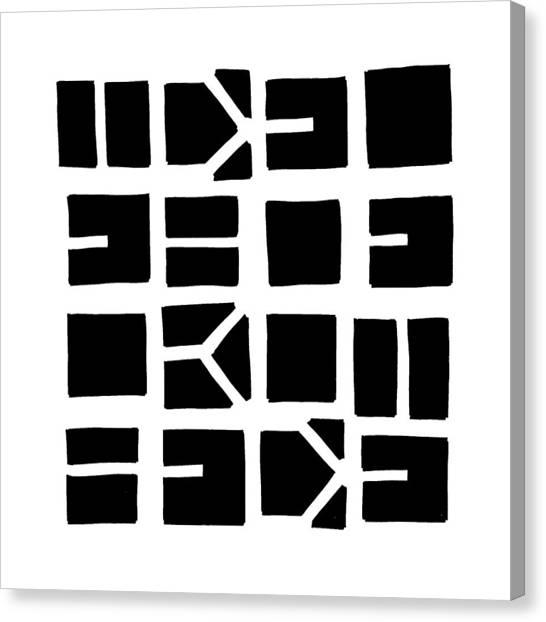 Idel... Black Canvas Print