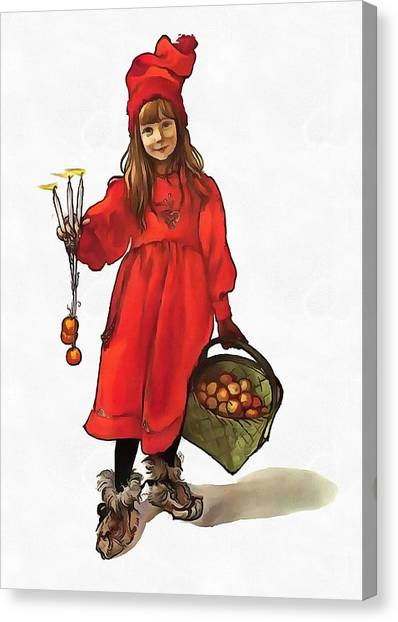 Iduna And Her Magic Apples Canvas Print