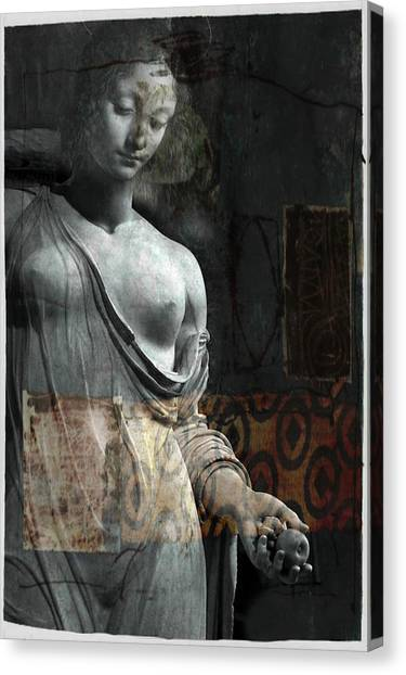 Mary Canvas Print - If Not For You - Statue by Paul Lovering
