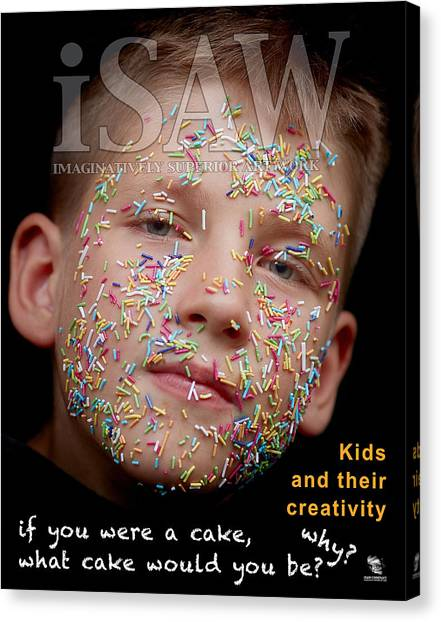 Canvas Print featuring the digital art If You Were A Cake by ISAW Company