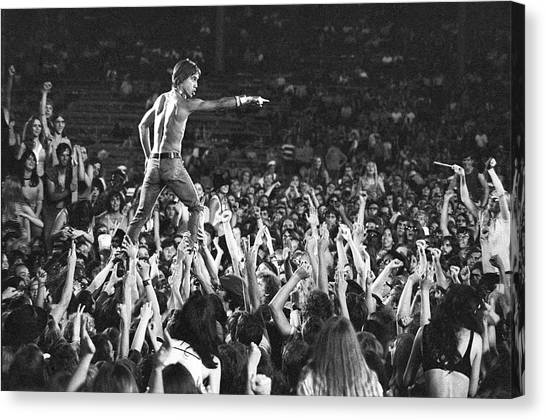 Iggy Pop Live Canvas Print by Tom Copi