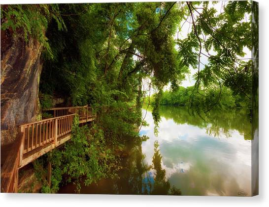 Ijam Nature Park Boardwalk Along The Tennessee River Canvas Print