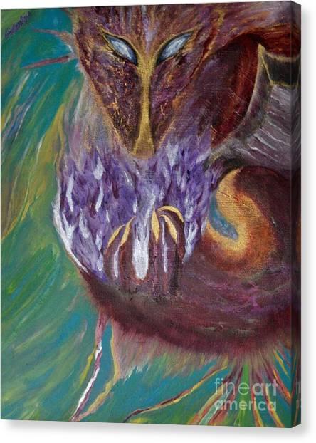 Canvas Print featuring the painting Illuminus by Sabine ShintaraRose