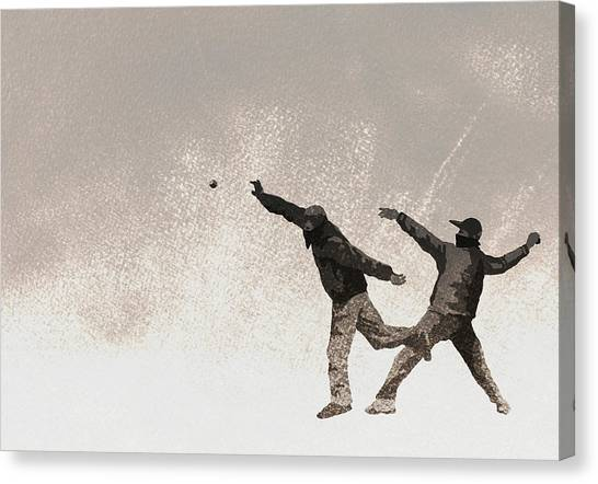 Illustration Of Terrorists Throwing Bomb Canvas Print