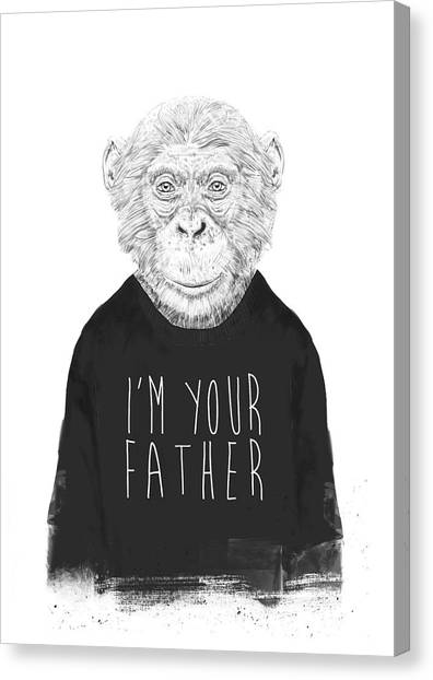 Primates Canvas Print - I'm Your Father by Balazs Solti