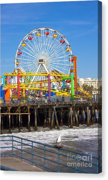 Ca Canvas Print - Image Of A Popular Destination The Pier by Littlenystock