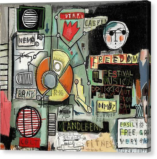 Urban Life Canvas Print - Image Of Graffiti, Which Contains A Set by Dmitriip