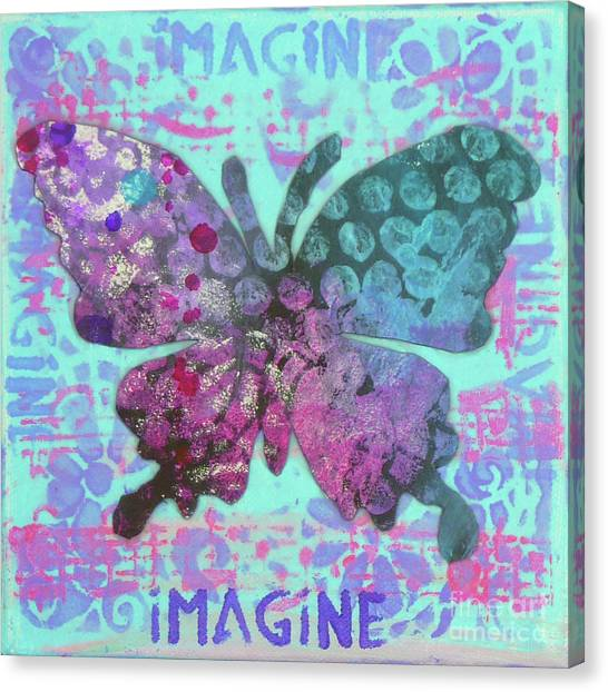 Imagine Butterfly 2 Canvas Print