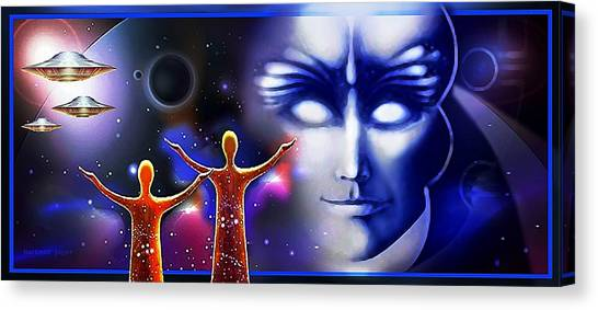 Imagine - What Is Out  There Canvas Print