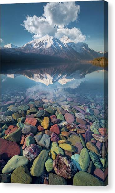 Immaculate Reflection / Lake Mcdonald, Glacier National Park  Canvas Print