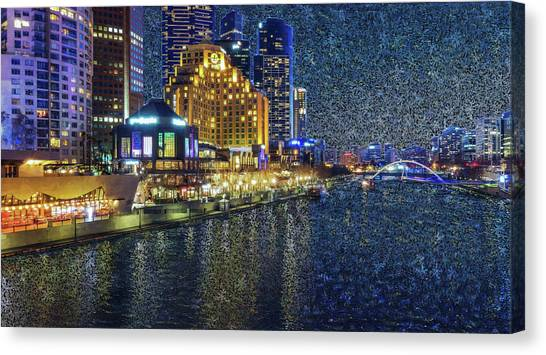 Impression Of Melbourne Canvas Print