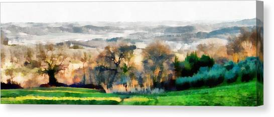Impressions Of Early Morning In Umbria Canvas Print