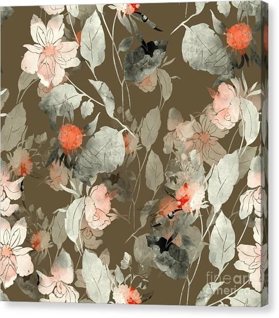 Media Canvas Print - Imprint Fantastic Paint Bouquet. Hand by Liia Chevnenko