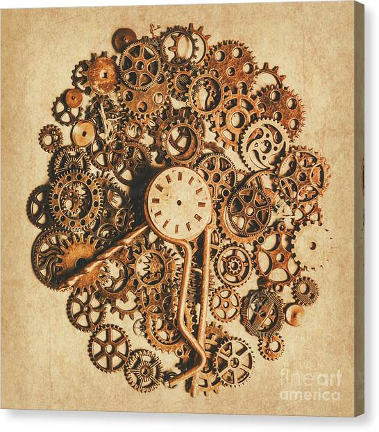 Brass Canvas Print - Improvised Time by Jorgo Photography - Wall Art Gallery