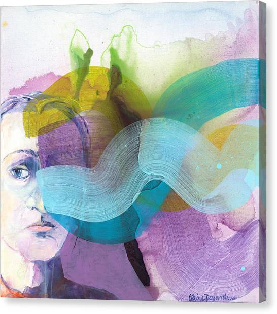 Canvas Print - In A Mood by Claire Desjardins