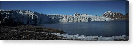 In Front Of A Glacier On Svalbard Canvas Print
