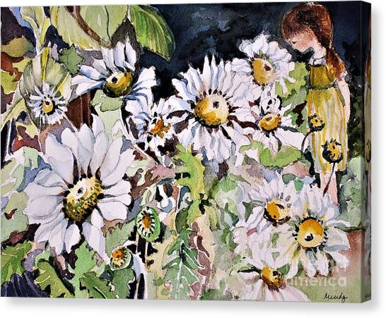 Canvas Print - In Her Daisy Garden by Mindy Newman