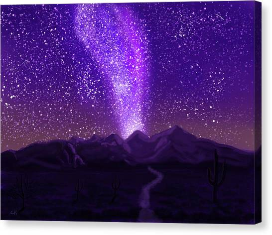 Canvas Print featuring the digital art In The Arizona Night by Chance Kafka