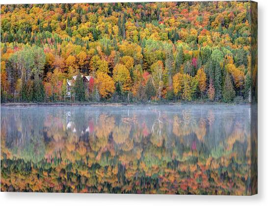 Canvas Print featuring the photograph In The Heart Of Autumn by Pierre Leclerc Photography