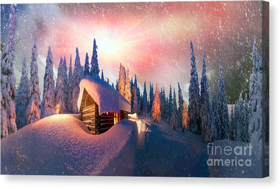 Mountain Climbing Canvas Print - In The High Mountains, Among The Wild by Roman Mikhailiuk