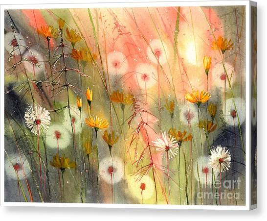 Birthday Gift Canvas Print - In The Morning Haze by Suzann Sines