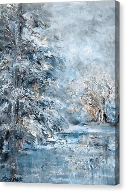 In The Snowy Silence Canvas Print