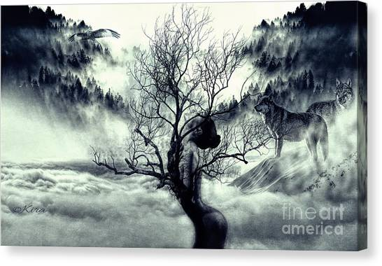 In Winter The Trees Are Naked Canvas Print