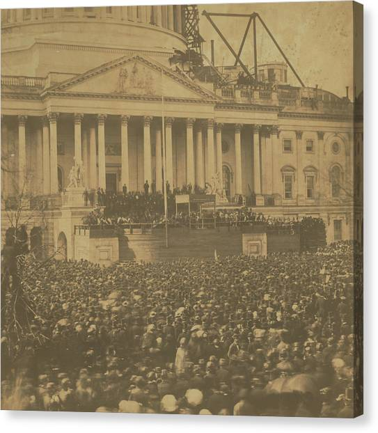 Inauguration Of Abraham Lincoln, March 4, 1861 Canvas Print