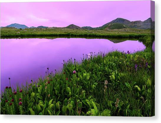 Independence Pass Purple Sunset Canvas Print