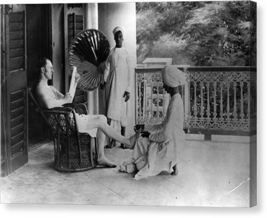 Indian Pedicure Canvas Print by Hulton Archive