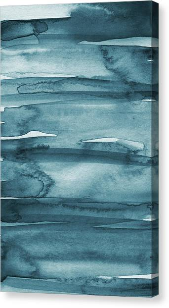Iphone Case Canvas Print - Indigo Water- Abstract Painting by Linda Woods